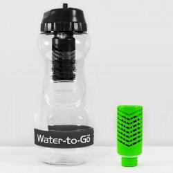 Zestaw Butelka filtrująca GO! 500 ml + zapasowy FILTR